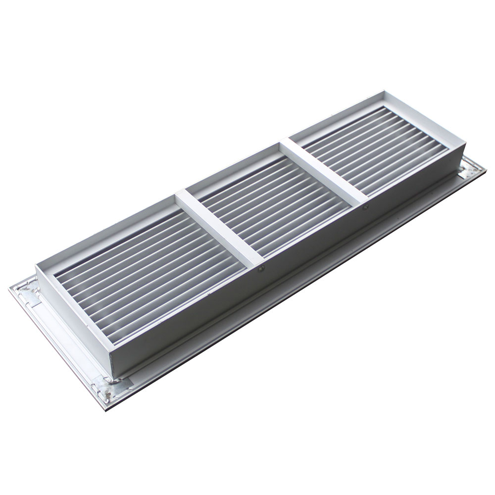FG-A2 Aluminum Floor Grille, floor grille with frame, linear bar floor grille with anodized surface finished