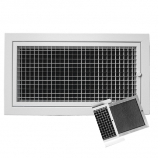 EG-AU Door-hinged eggcrate grille c/w removable G3 filter, aluminun eggcrate air grille, eggcrate grille supplier